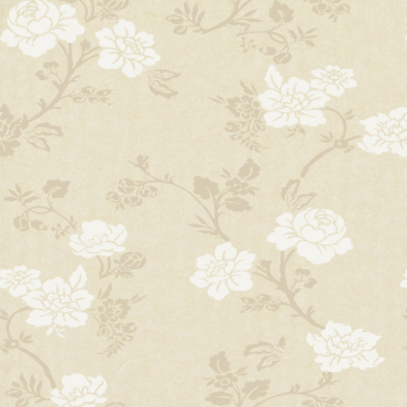 flower design non-woven glitter wallcovering