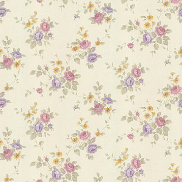 fashion flowers decorative wallcovering