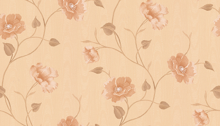 fashion flowers design wall covering
