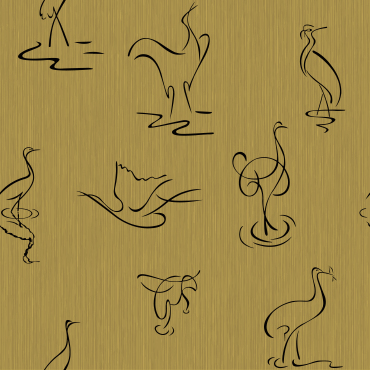 Chinese character design wallcovering for walls
