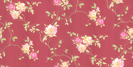 Chinese natural flowers wallcovering