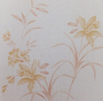beautiful  pvc foaming floral wall coverings