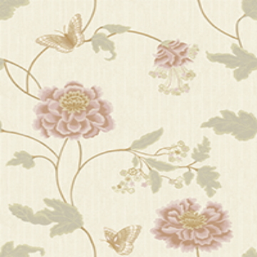 Chinese flower style wallcovering for household